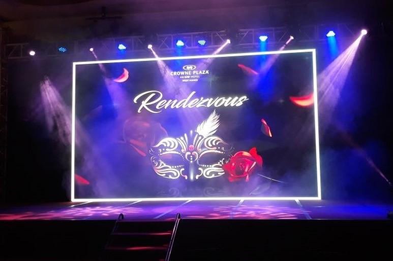Màn LED P3 sự kiện Rendenzvous tại Crowne Plaza – Kích thước 7m2